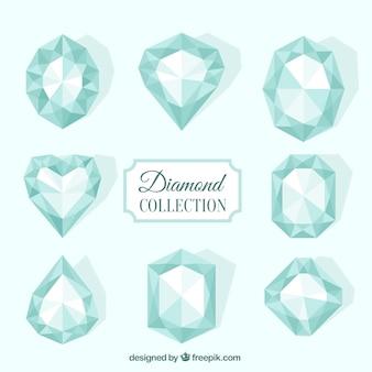 Collection de diamants en design plat