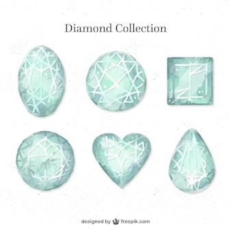 Collection de diamants peints à la main avec des conceptions différentes