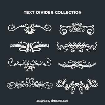 Collection de diviseurs de texte