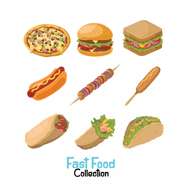 Collection de fast-food