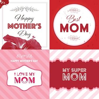 Collection de fond de la fête des mères