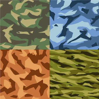 Collection de fond de motif de camouflage
