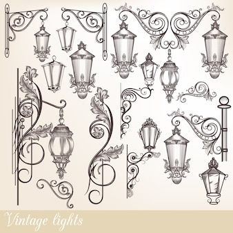 Collection de lampes Vintage