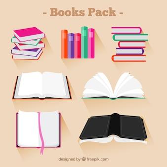 Collection de livres colorés