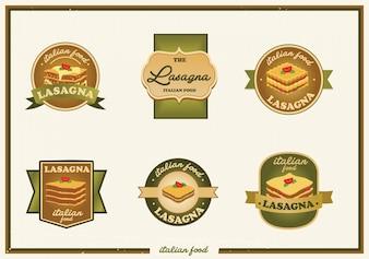 Collection de logo aux lasagnes