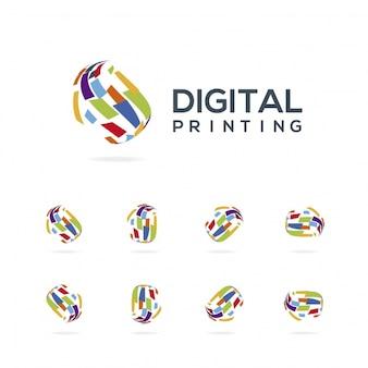 Collection de logo d'impression numérique