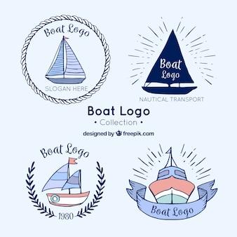 Collection de logo de bateaux