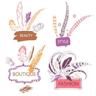 Collection de logo de mode