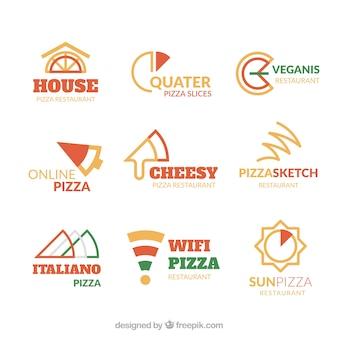 Collection de logo de pizza moderne