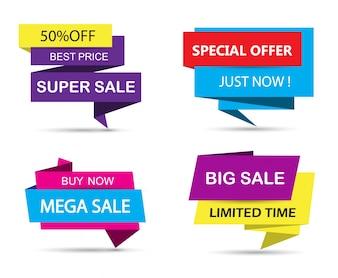 Collection de logo de vente
