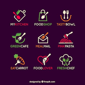 Collection de logos alimentaires