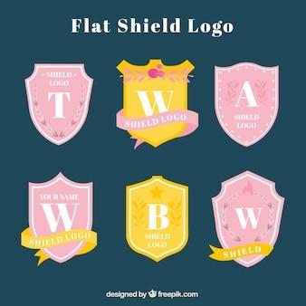 Collection de logos de bouclier de cru