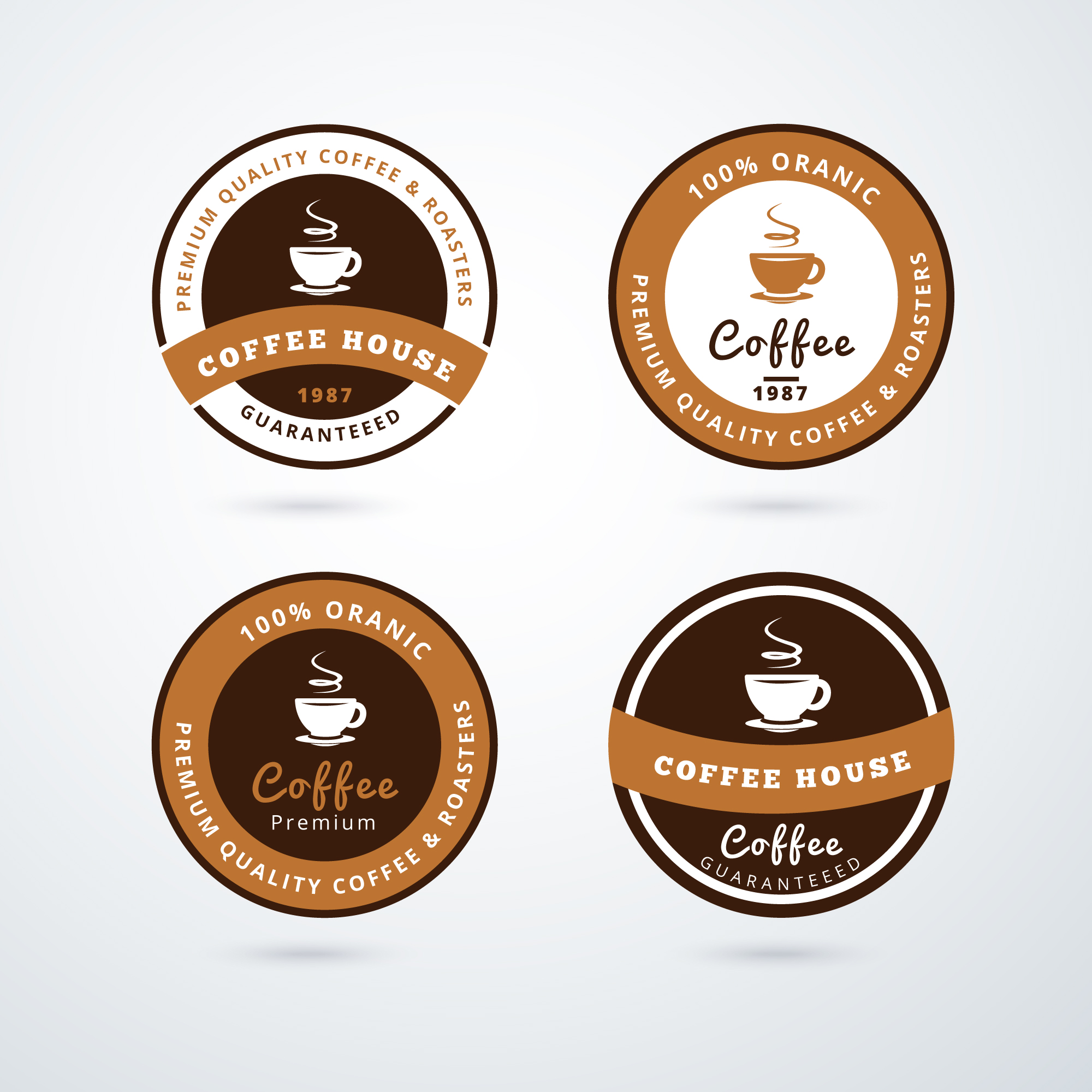 Collection de logos de café