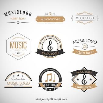 Collection de logos de musique rétro
