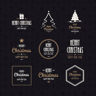 Collection de logos de Noël