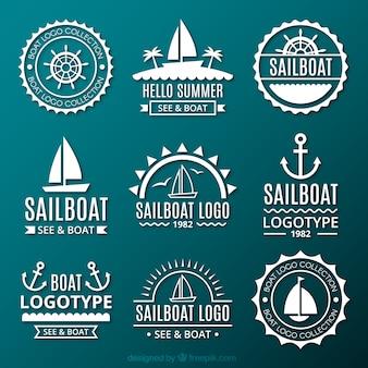 Collection de logos marins