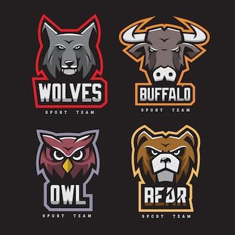 Collection de logos pour animaux