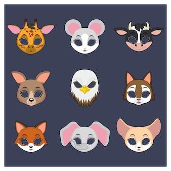 Collection de masques d'animaux