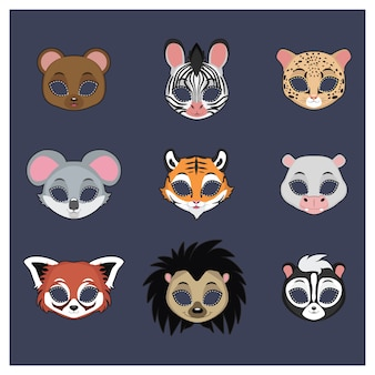 Collection de masques d'animaux