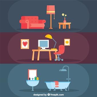 Collection de meubles de maison