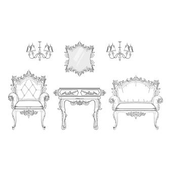 Collection de mobilier décoratif