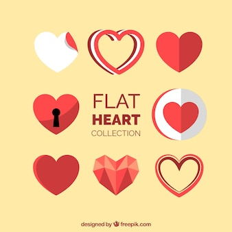 Collection de modèles de coeur