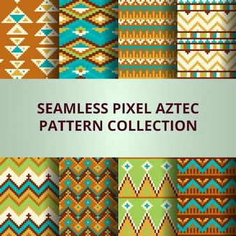 Collection de modèles vectoriels sans soudure multicolores de pixels