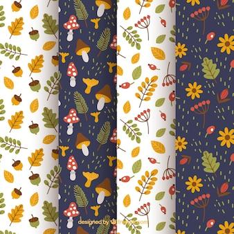 Collection de motifs, éléments d'automne