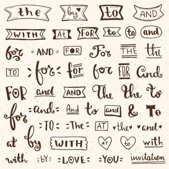 Collection de mots décoratifs