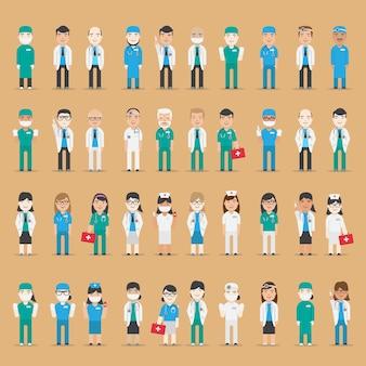 Collection de personnages médicaux