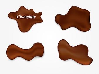 Collection de points de chocolat