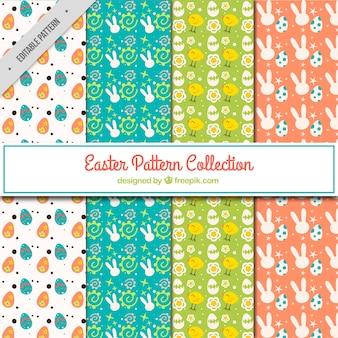 Collection de quatre modèles de Pâques
