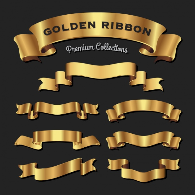 Collection de rubans d'or