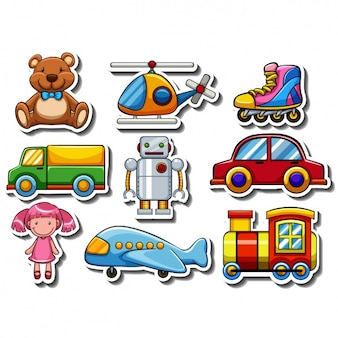 Collection de stickers Childish