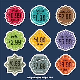 Collection de stickers décoratifs avec des prix spéciaux