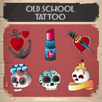 Collection de tatouage à l'ancienne