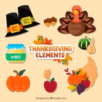 Collection de thanksgiving plat
