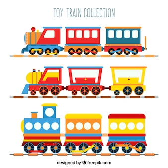 Collection de train à jouets