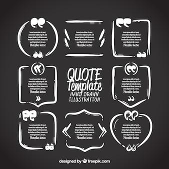 Collection de traits dessinés à la main pour une citation