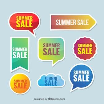 Collection de vente autocollant d'été