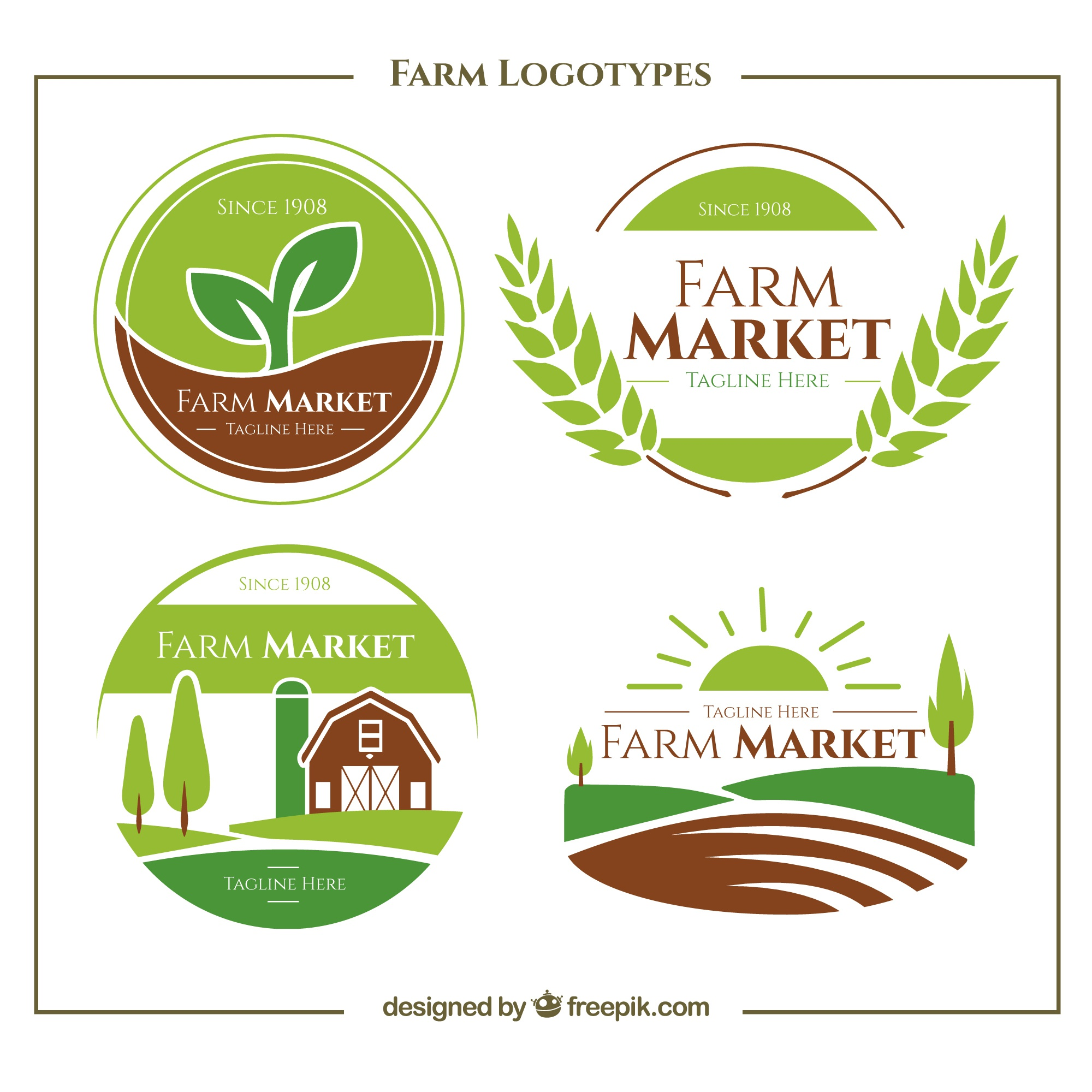 Collection de vert ferme logo