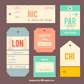 Collection de voyage balise design plat