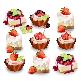 Collection délicieuse de cupcake