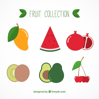 Collection délicieuse de fruits