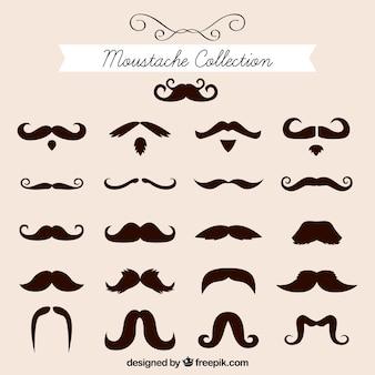Collection élégante de moustaches