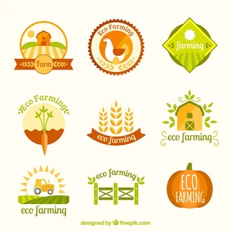 Collection logotype agricole