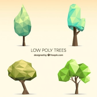 Collection Low Poly arbres