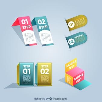 Collection moderne d'éléments infographiques