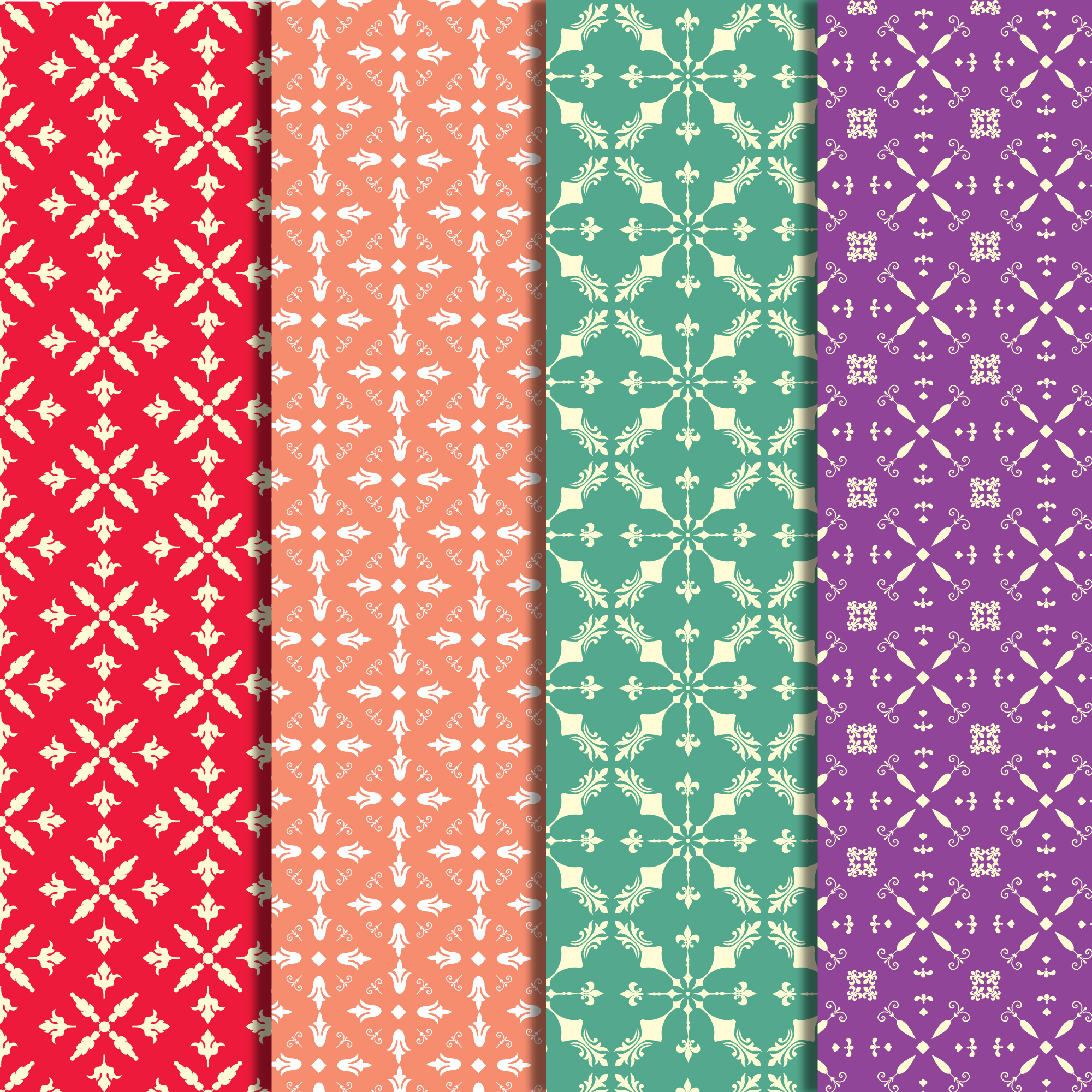 Collection Multicolor pattern background