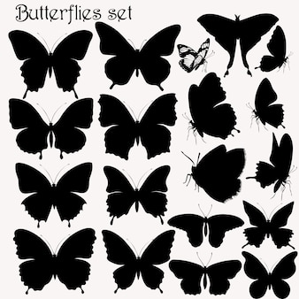 Collection Papillons silhouettes